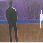 「空は暗い…」油絵、60号、1997年(93歳) 練馬区立美術館・追悼展出展