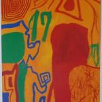 「わきあがる」1997、40F、アクリル